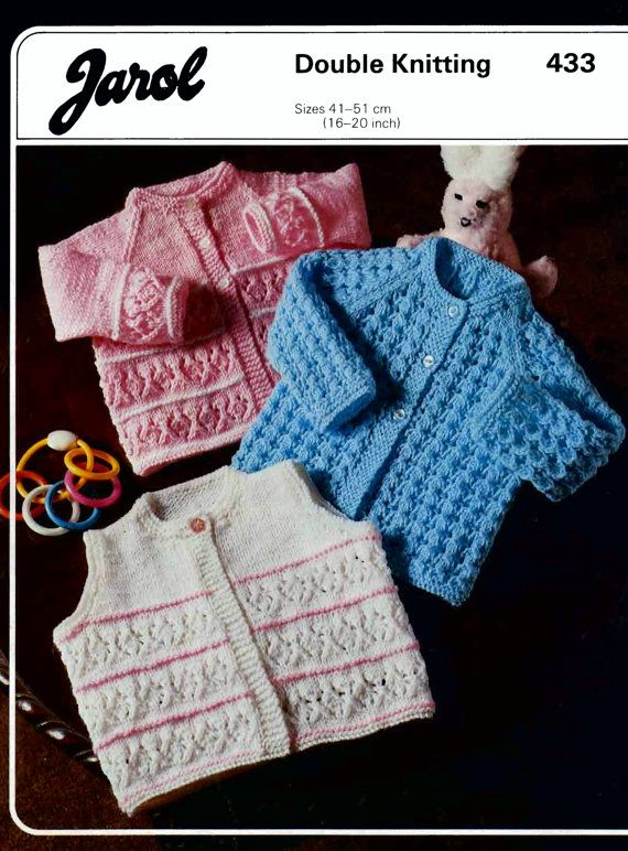 On Sale Baby Dk 8ply Cardigans And Waistcoat 3 By Avintagescot