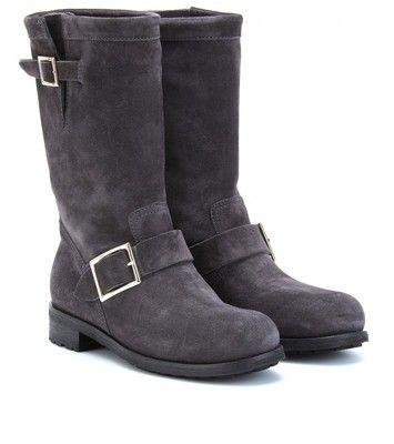 jimmy choo suede biker style boots polyvore my style pinterest rh in pinterest com