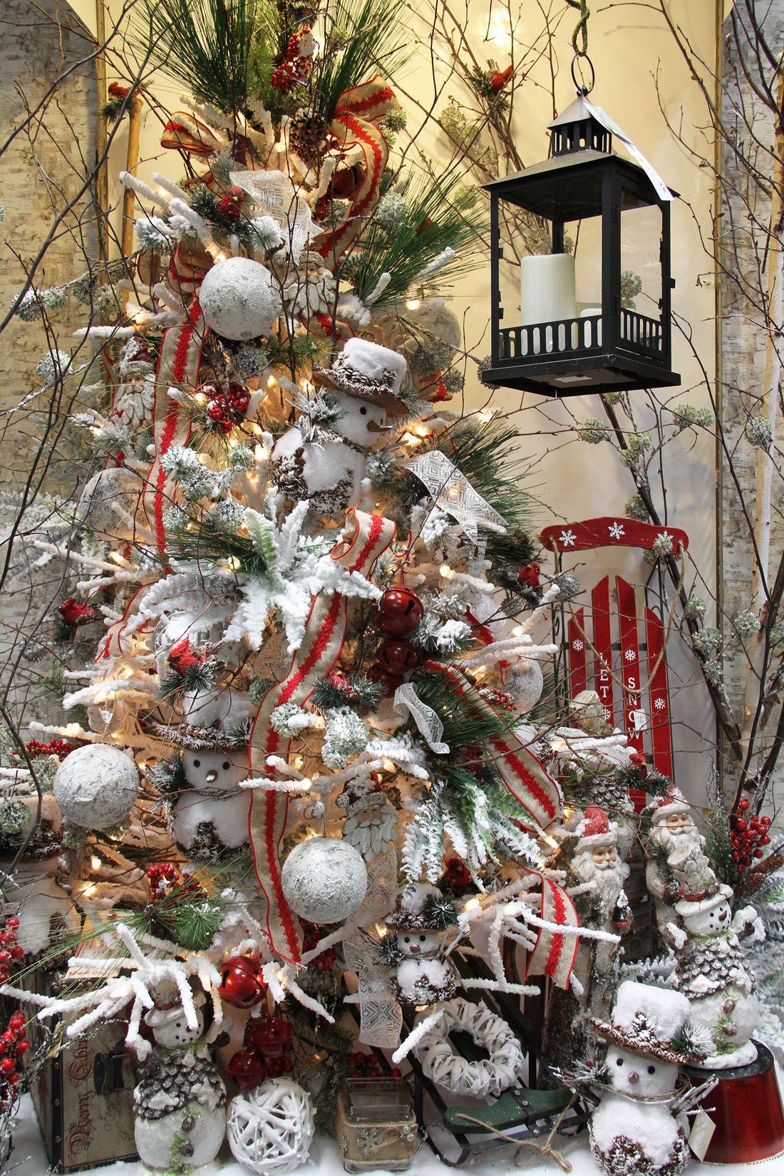 woodland snowman christmas tree