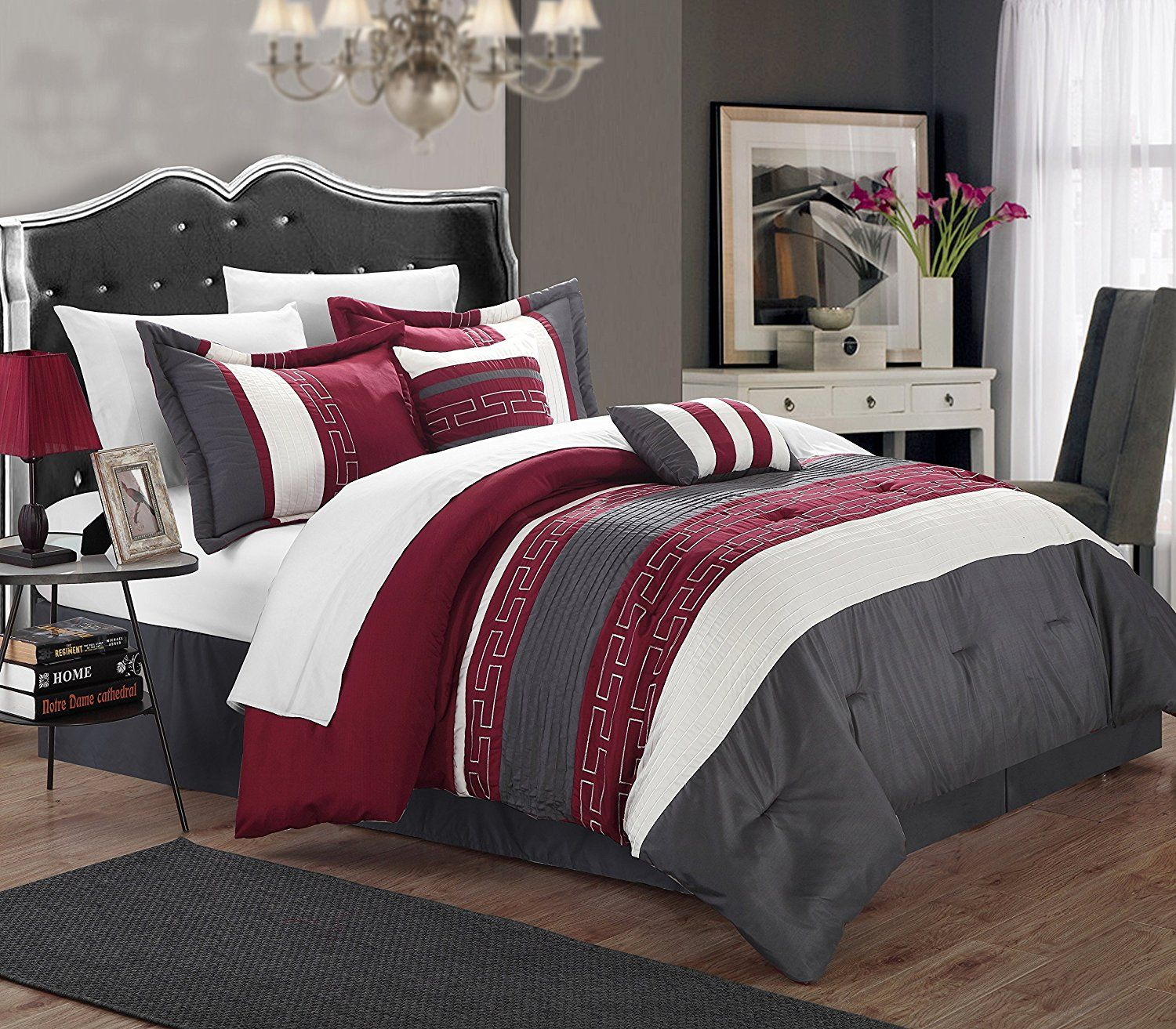 Burgundy Black Bedding Sets Sale Burgundy Bedroom Comforter Sets Chic Home