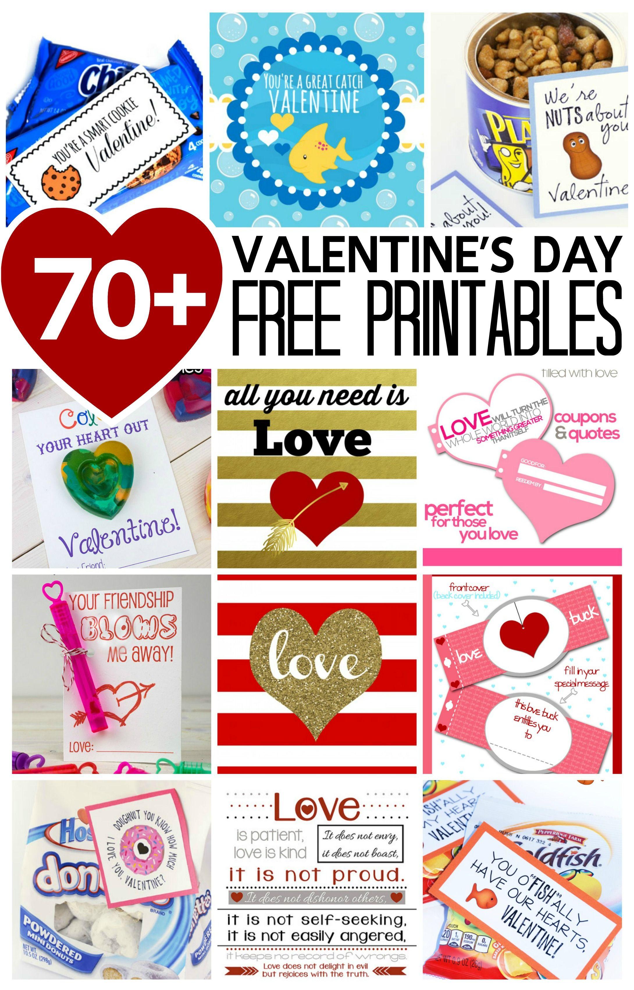 70 Valentine S Day Free Printables