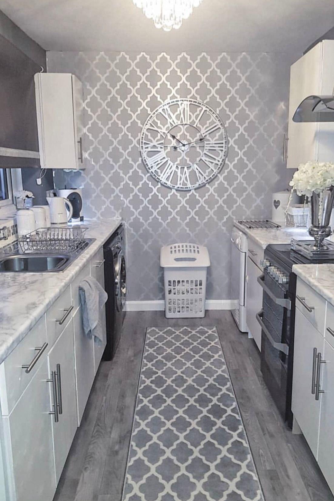 Camden Trellis Wallpaper Soft Grey Silver Decor Home Living