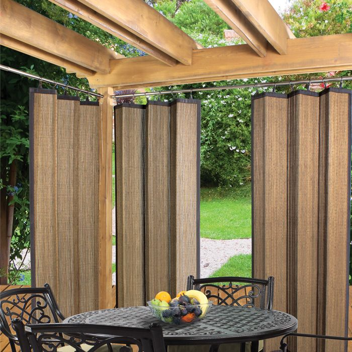 Bamboo Indoor Outdoor Sunscreen Panel Outdoor Gazebo Curtains Outdoor Curtains Outdoor Bamboo Curtains