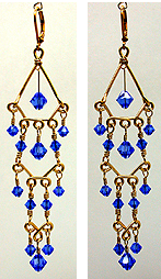 Instructions for making Multi-Tier Beaded Chandelier Earrings out ...