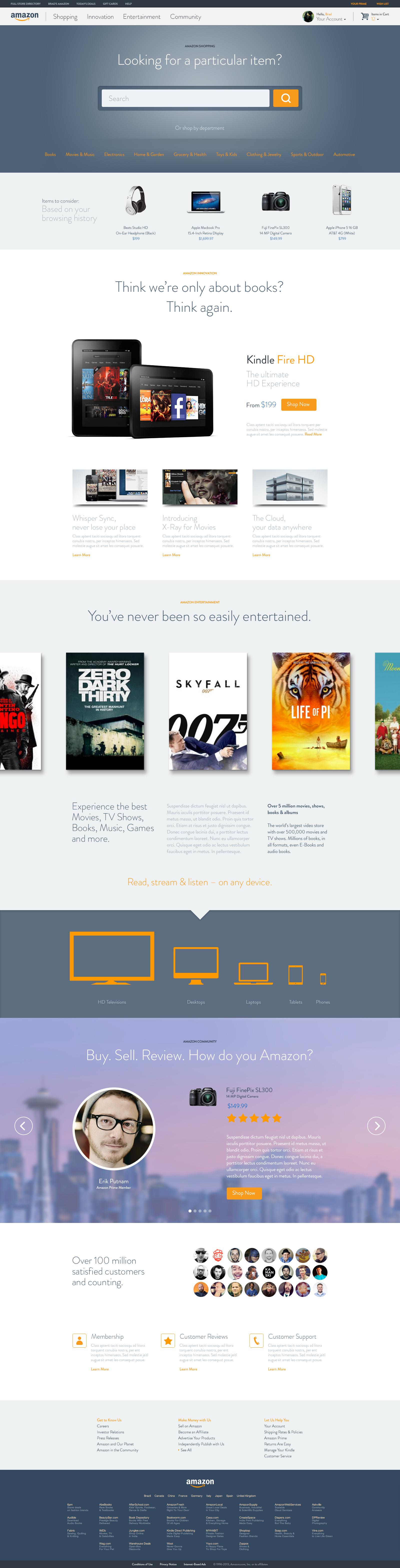 Amazon Full Px Jpg By Brad Burke Web Layout Design Web Design Inspiration Web Design