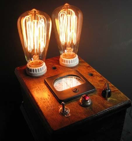 Steampunk Table Lamp One Of A Kind Steampunk Table Lamp Steampunk Lighting Steampunk Lamp