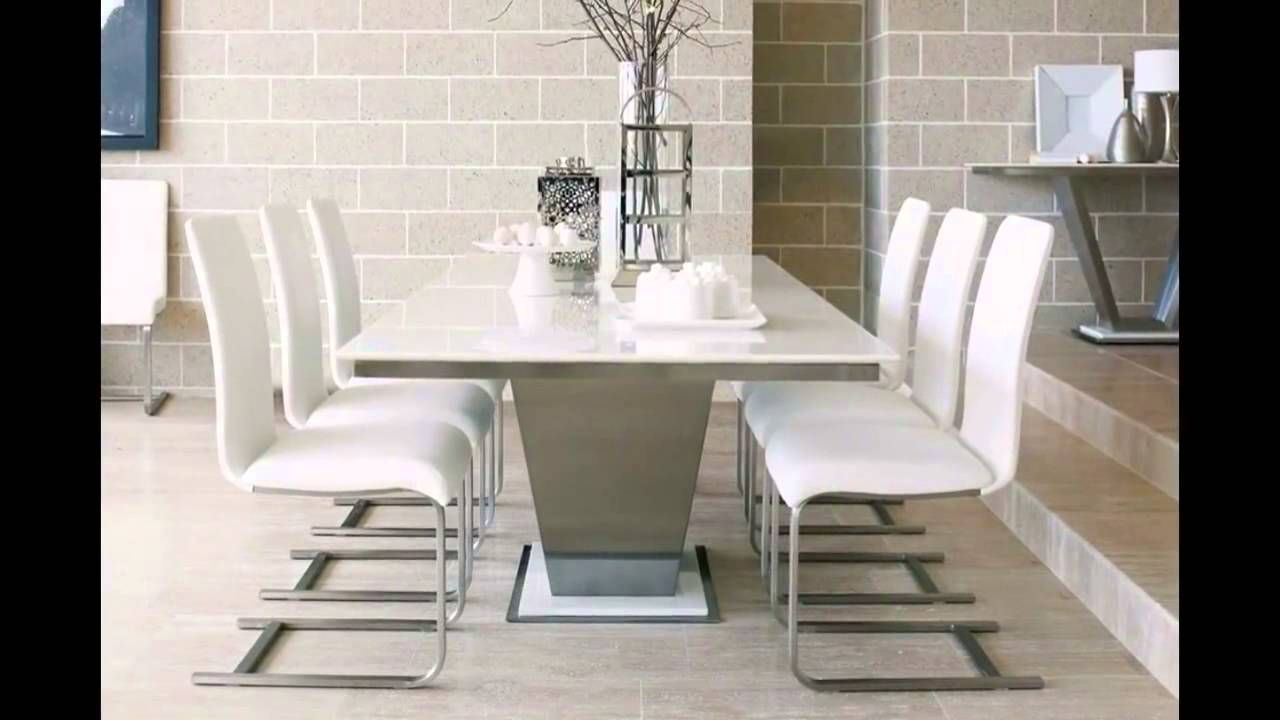 Dining Room Simple White Marble Dining Table For 6 White Dining