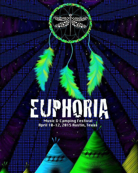 Euphoria Music & Camping Festival Poster by Andres Alvarez