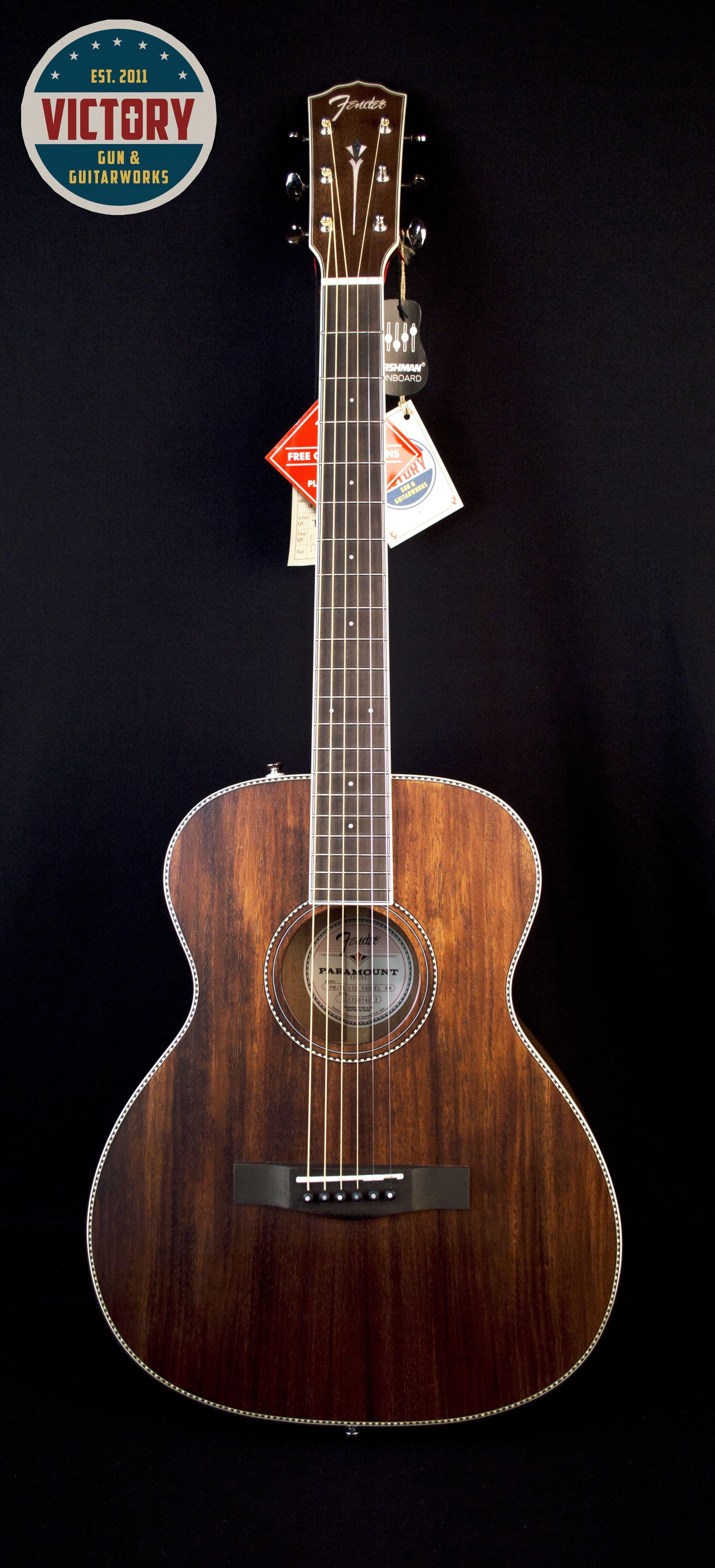 Fender Pm Te Travel Mahogany Acoustic Fender Acoustic Mahogany