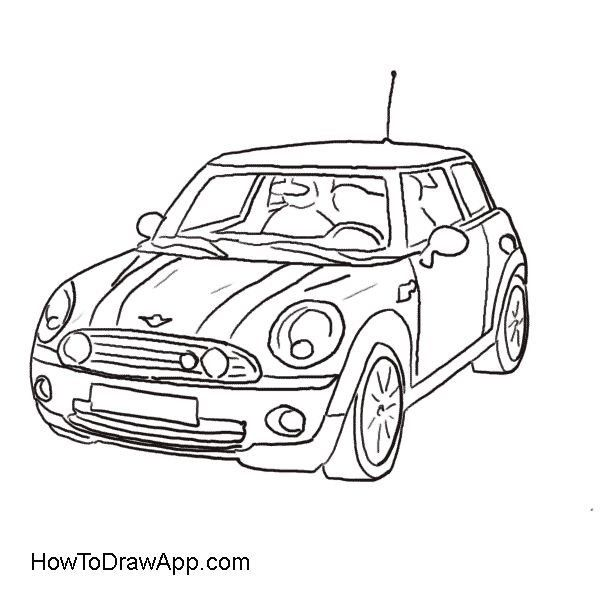 card making imagealy johnstone  mini cooper car
