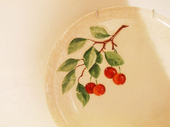 Antique Plate Wall Decor Raised Cherry Design Embossed VERY OLD ...