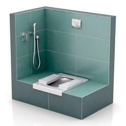 3d Sanitary Ware Lavatory Pan Squat Toilet N301213 3d Model Bathroom Design Layout Toilet Design Bathroom Sanitary