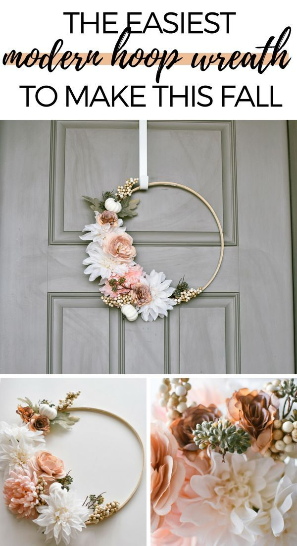 Photo of Make This Easy Modern Fall Wreath In An Hour