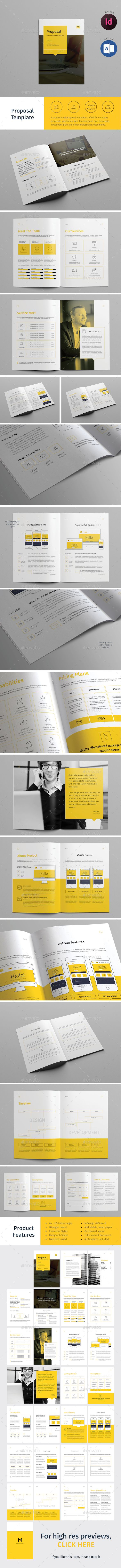 28 Pages Proposal Template InDesign INDD. Download here: http ...