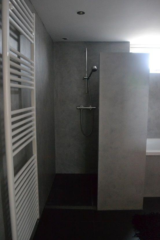Inloopdouche zwart betonlook badkamer muren google zoeken badkamer pinterest bath ideas - Ontwerp badkamer model ...
