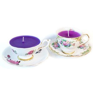 Vintage Teacup Candles Set Of 2, 28€, by In with the Old !!
