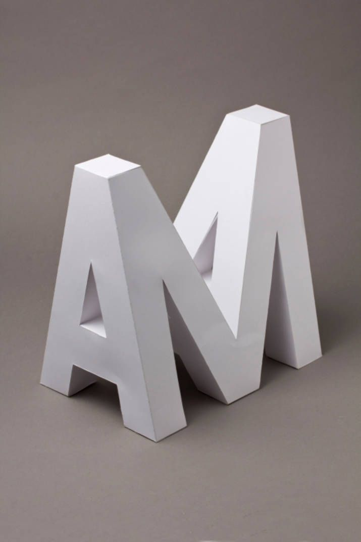 Artist Creates 4D Typography Handcrafted in Paper #3dtypography