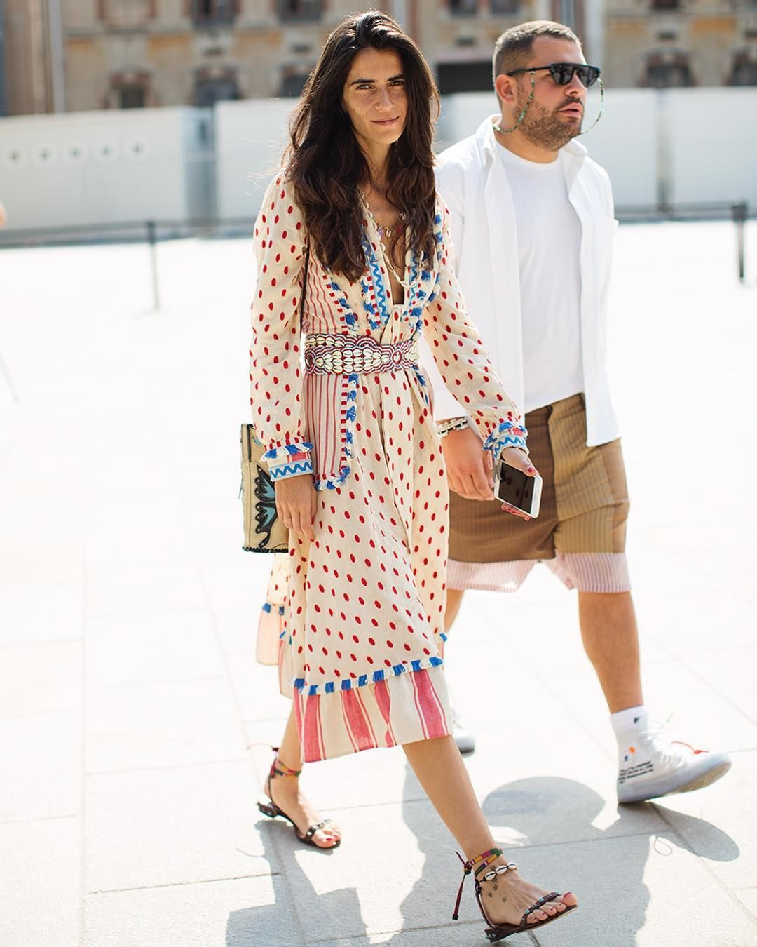 Thesartorialist a long dress with a good print is a blessing to find