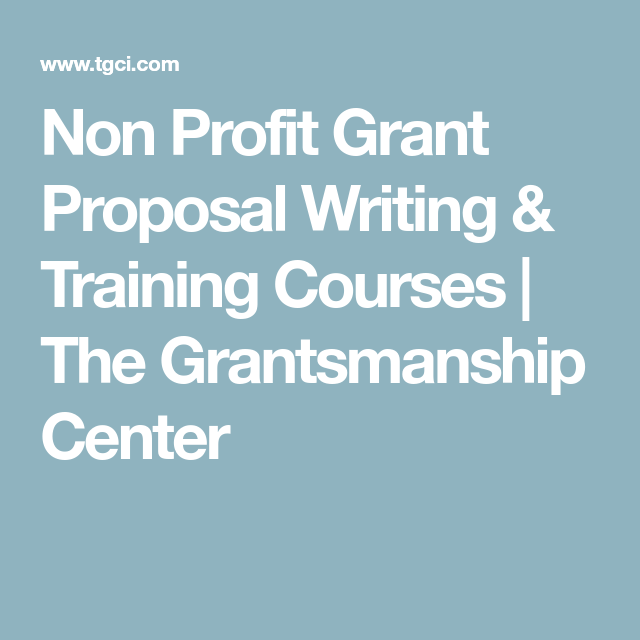 Non Profit Grant Proposal Writing Training Courses The