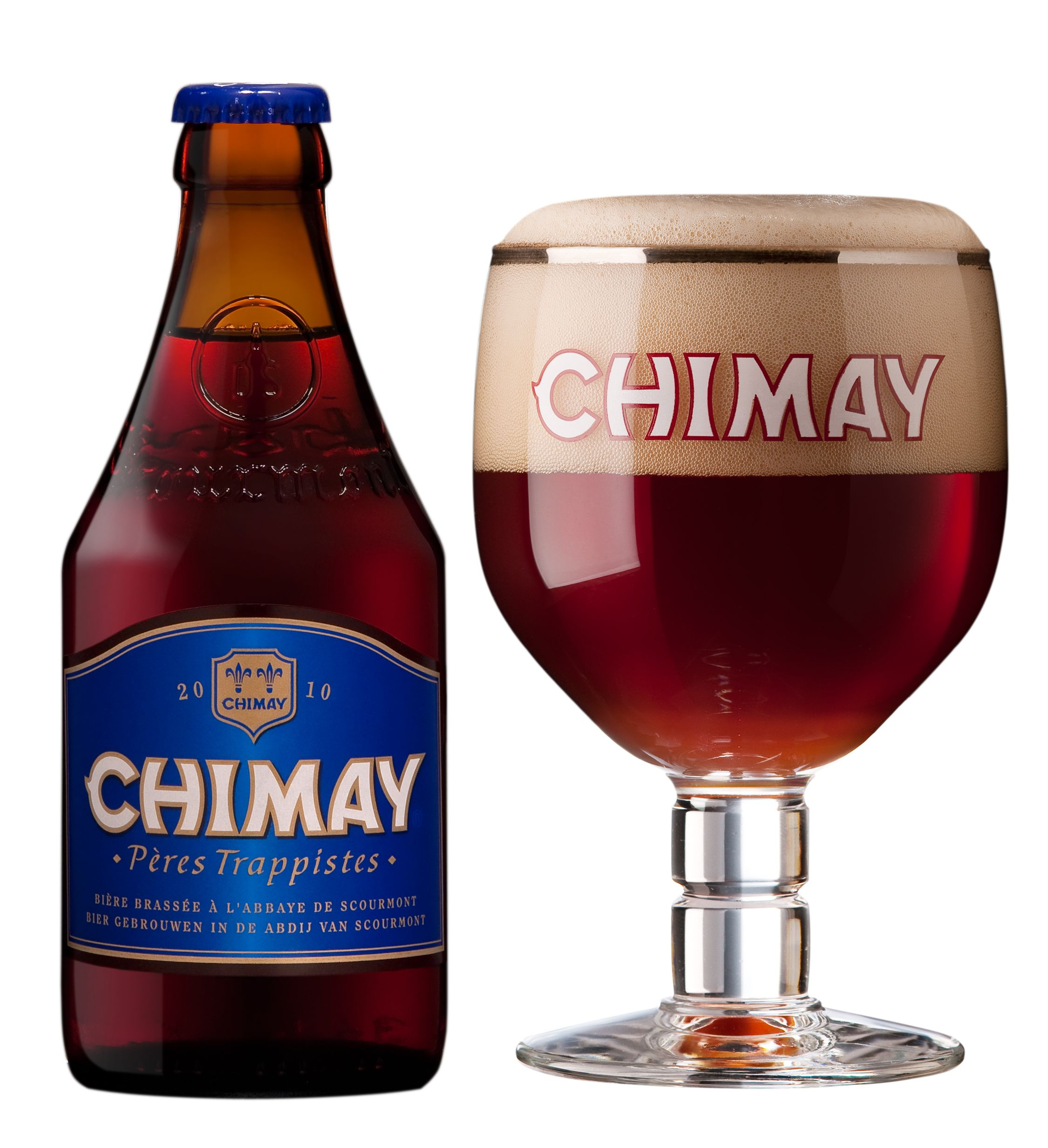 Chimay Blue Label Belgian Ale Super Delicious Wine Bottle Beer Bottle Beer