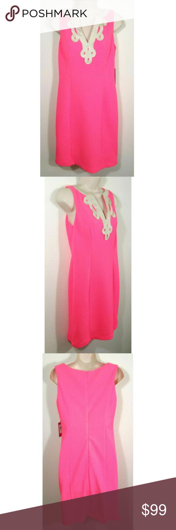 Sold Vince Camuto Lace Applique Sheath Dress Womens Sheath Dress Clothes Design Sheath Dress [ 1740 x 580 Pixel ]