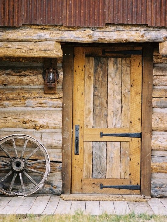 Hardwood Door For Cabin Cottage Or Lodge Rustic