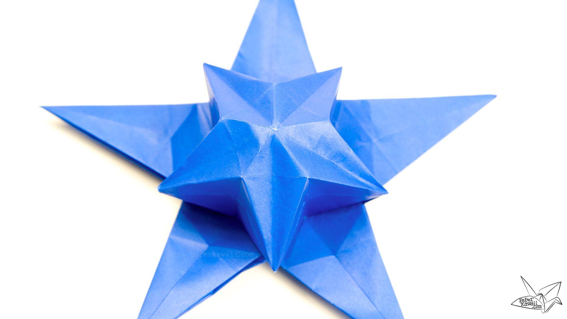 Origami Star Puff Tutorial Philip Chapman Bell Origami Origami