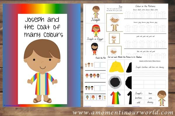 FREE Joseph and the Coat of many Colours Pack {140+ pages ...