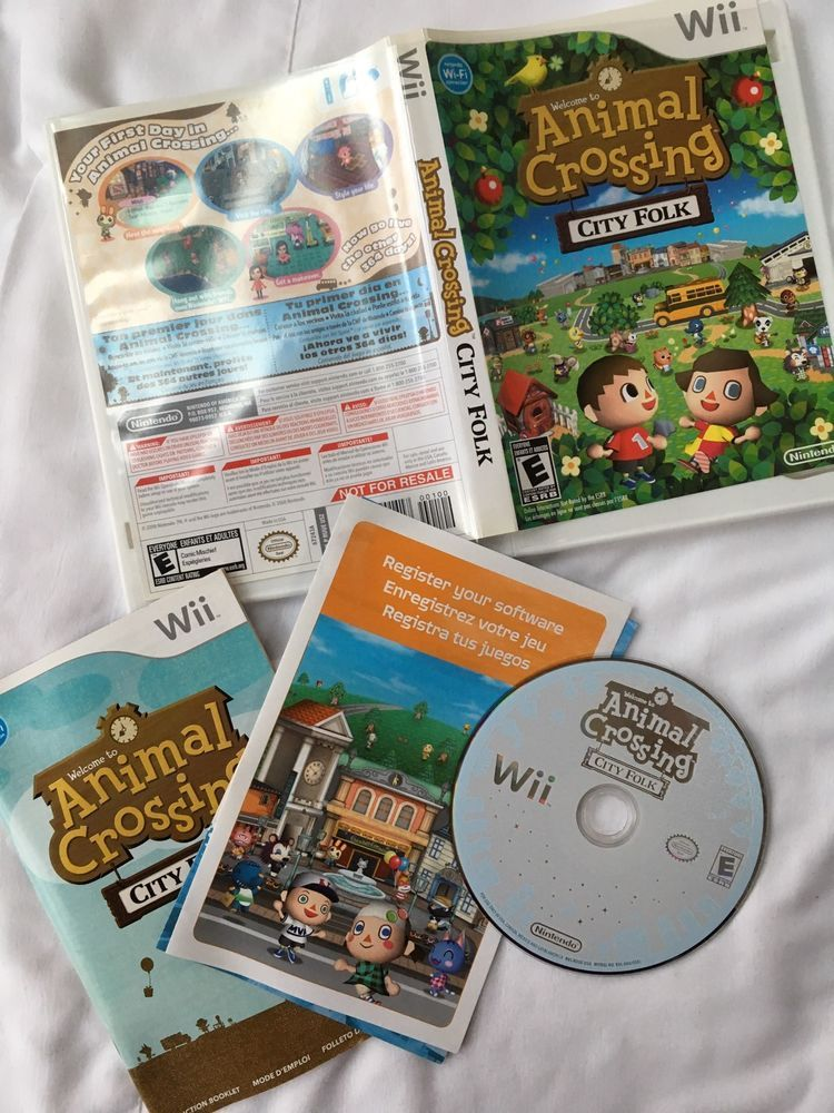 Animal Crossing: City Folk Nintendo Wii Game No Scratches ...