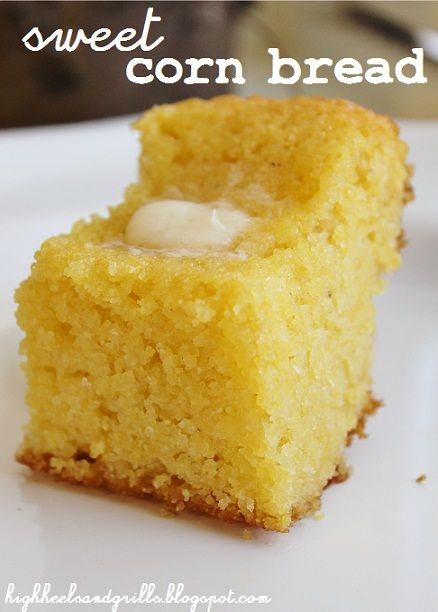 Sweet Corn Bread. This is the best corn bread and it's really easy too!