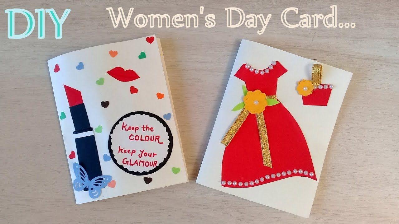 Lovely Card Designs For Women S Day Diy Handmade Women S Day