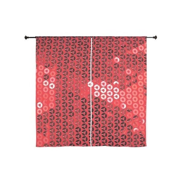 Shiny Red Sequins Curtains 51 Liked On Polyvore