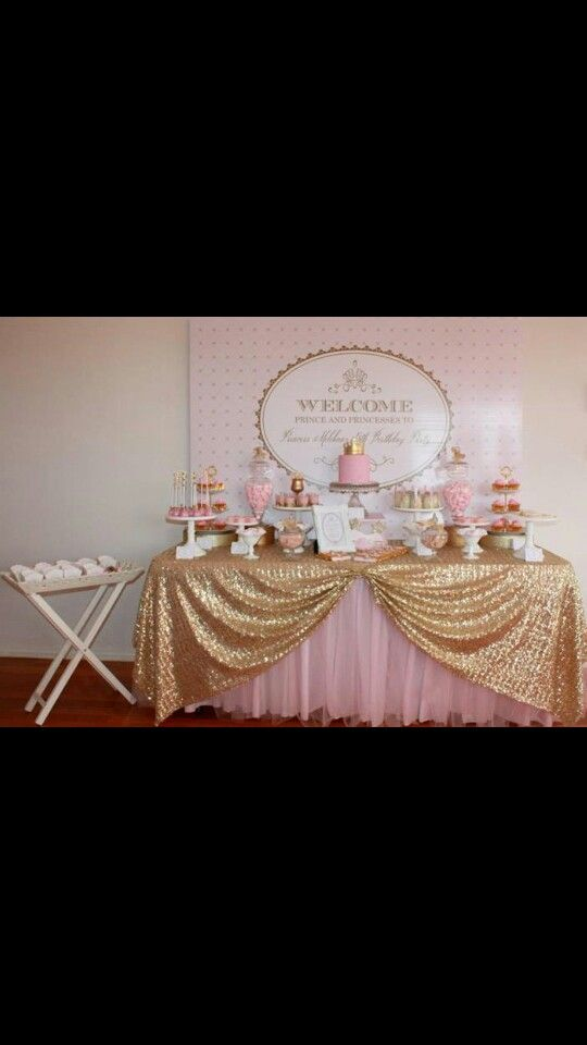 Princess Candy Buffet Baby Shower Princess Baby Shower Princess