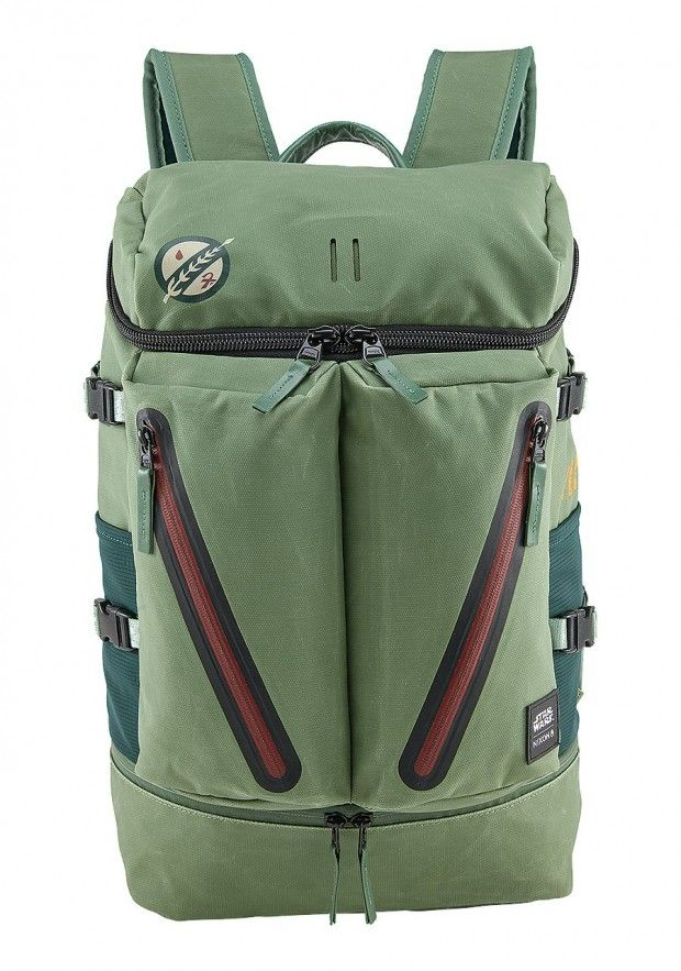 Boba Fett's backpack. Nixon puts Star Wars into the product rather than onto the product.