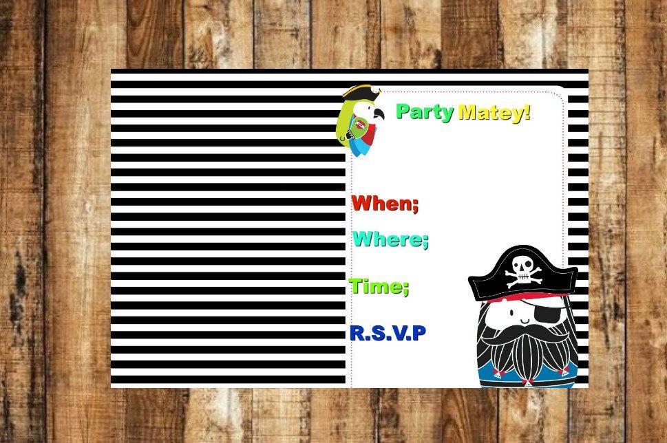 birthday party invitations printable%0A Digital Download Birthday Party Invitation Pirate Birthday Party Invitation Digital  Pirate Invitation Birthday