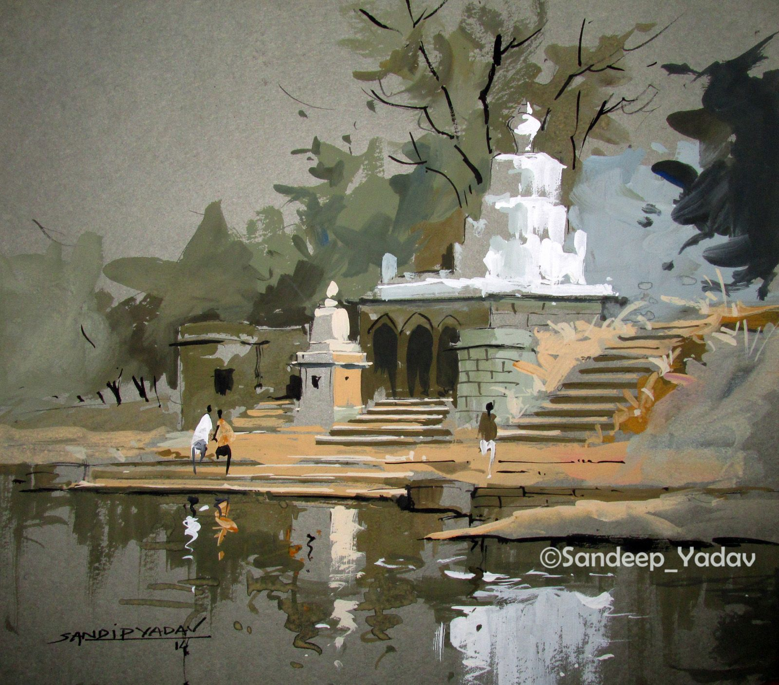 Landscape Paintings By Famous Indian Artists