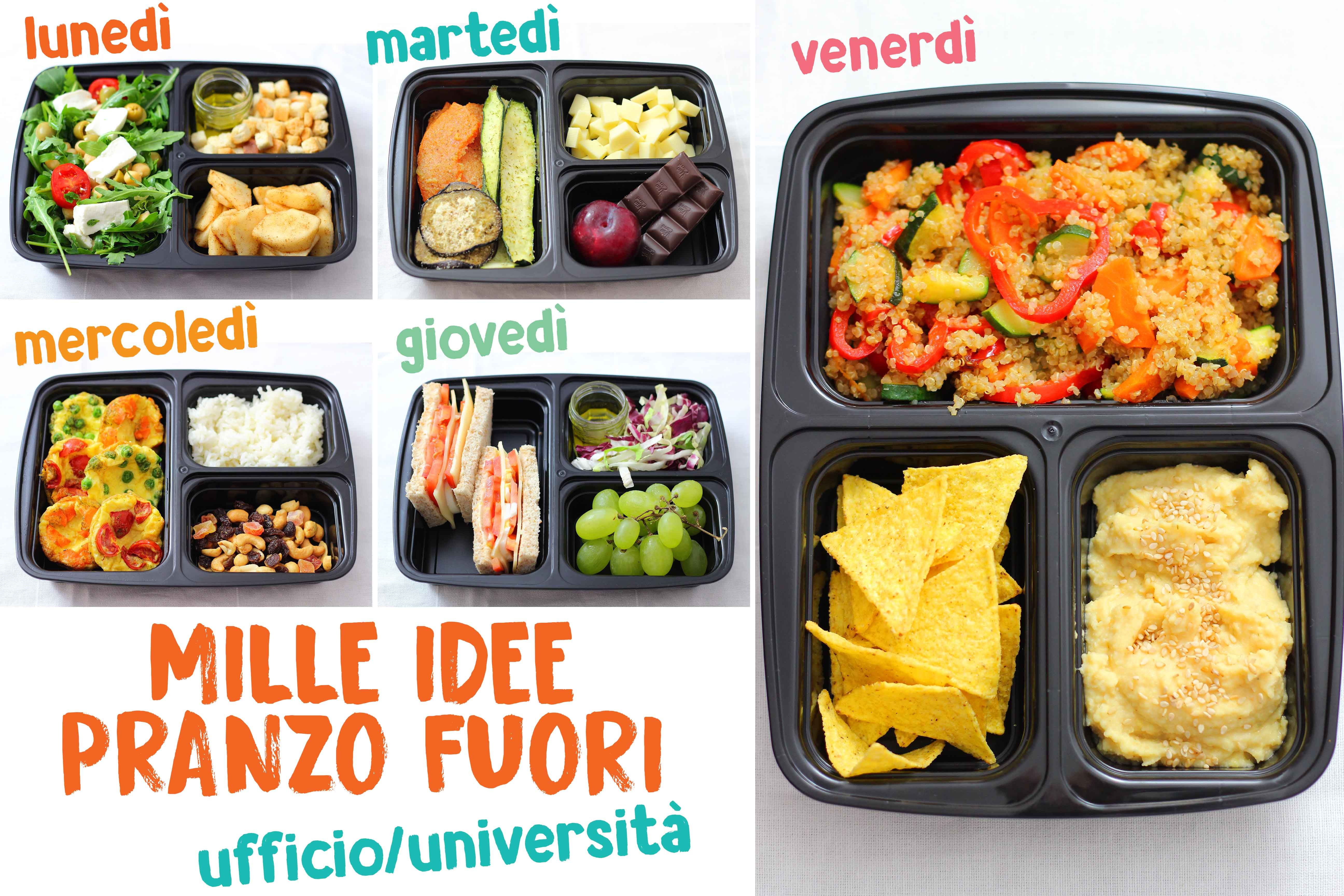 Idee Per Pranzi Sani : Mille idee pranzo fuori ufficio università recipe books