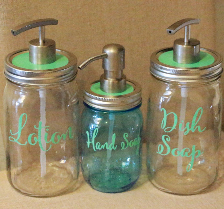 Mason Jar Soap Dispenser // Lotion Dispenser // by HouseOfJars, $18.50