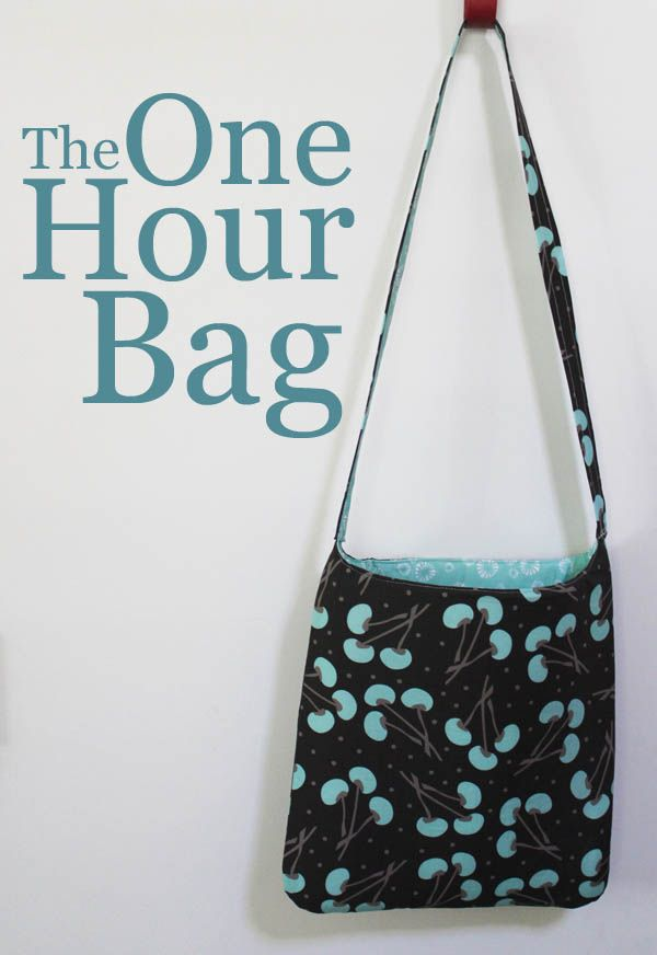 So cute! Whip up this sweet One Hour Bag with your favorite fabrics ...