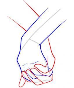 Comment dessiner des mains qui se tiennent pour dessiner pinterest comment dessiner - Dessin 2 mains ...