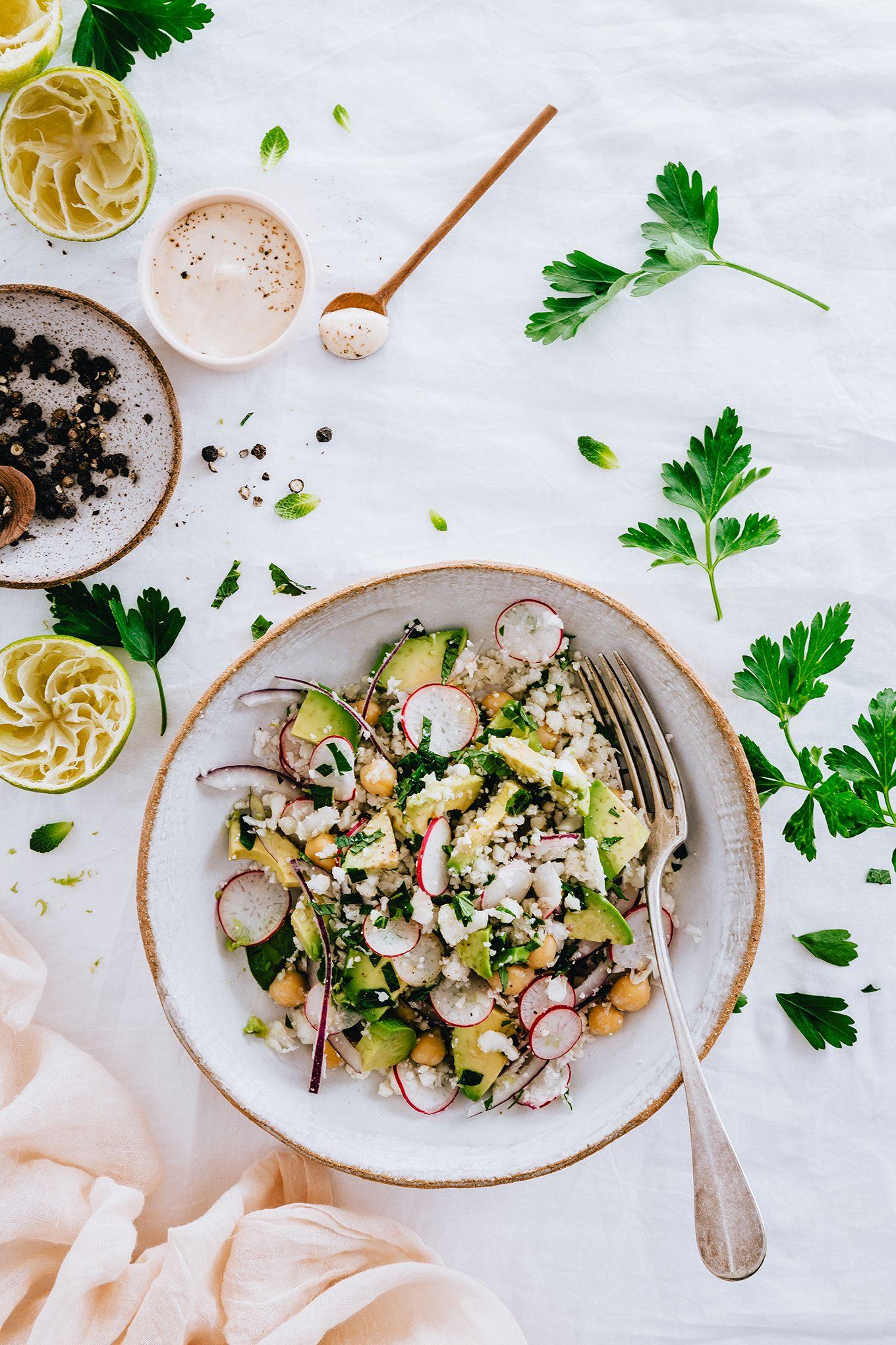 Salade de chou-fleur crue   Carnets Parisiens   Salade chou fleur, Salade de chou