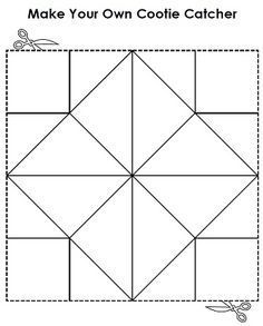 A Printable Cootie Catcher a.k.a Fortune Teller