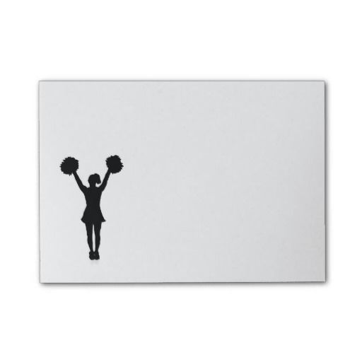 Cheerleader Post-it Notes makes a great gift or stocking stuffer! May be personalized!