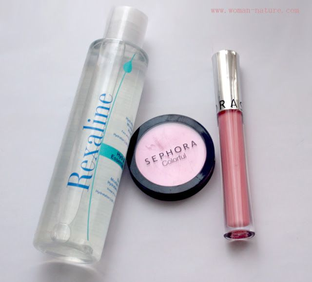 Sephora: Agua Micelar Rexaline, Ultrashine lip gel y colorete hidratante