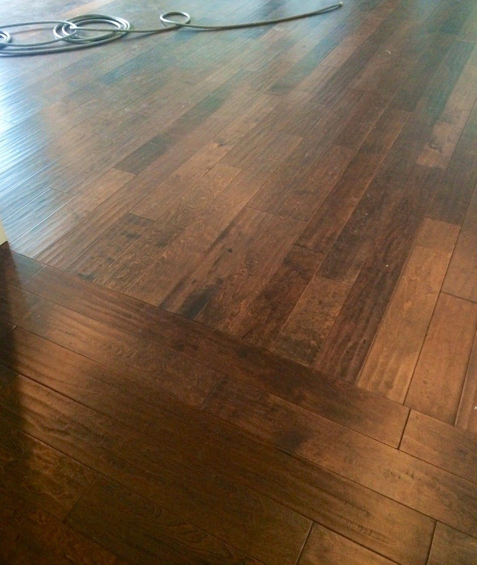 installing hardwood floor how to change direction tutorial