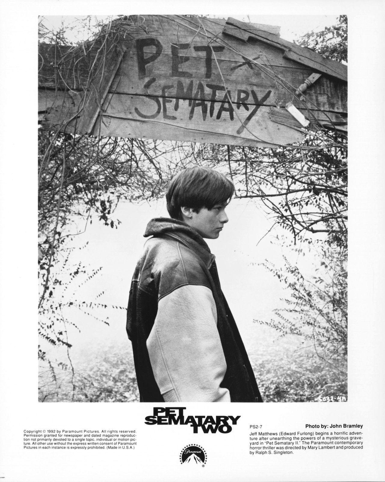 Pet Sematary II (1992) Edward furlong, Pet sematary