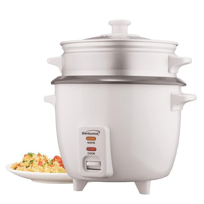 Brentwood TS-600S 5 Cup Rice Cooker With Steamer Attachment-