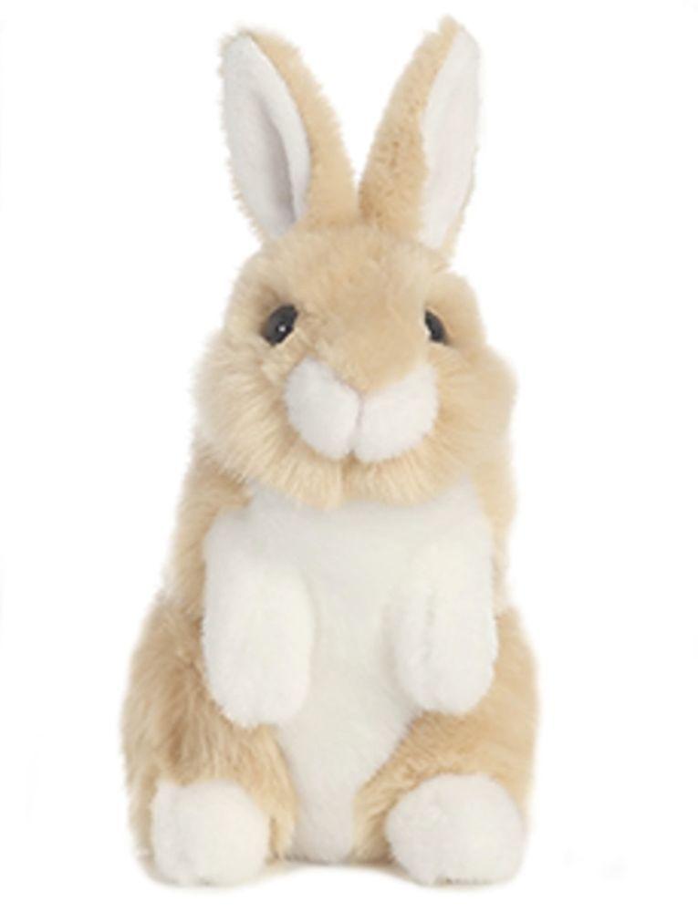 Aurora Lil Bunny 7 5 Plush Small Tan White Rabbit Stuffed Animal