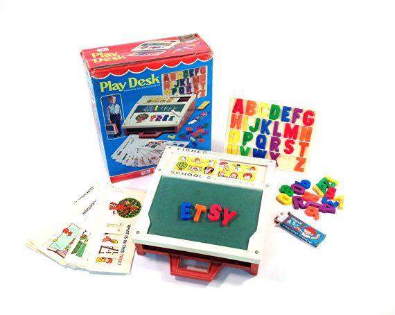 Vintage Fisher Price School Days Desk In Box 176 1972 Play Vintage Fisher Price Toys Vintage Fisher Price Fisher Price Toys