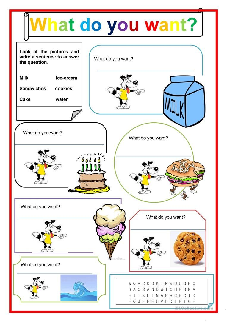 What Do You Want Kindergarten Worksheets Kindergarten Reading Worksheets English Worksheets For Kids [ 1079 x 763 Pixel ]